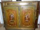 Comoda pictata manual,stil baroc venetian,vintage,Italia,cu/fara oglinda, Comode si bufete, 1900 - 1949