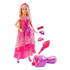 Papusa Barbie cu accesorii, +3 ani, roz