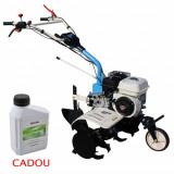 Motosapa AGT 6500 PREMIUM, Honda GP160, 5.5 CP, benzina, 2+1 viteze + roti 4.00-8, plug bilonat