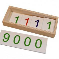 Jetoane mari 1 - 9000 - introducerea simbolurilor, Montessori
