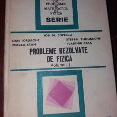 PROBLEME REZOLVATE DE FIZICA VOL I ION M POPESCU