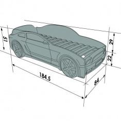 Pat masina tineret Light-MG 3D Albastru