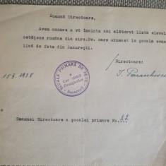 1938, Școala comunității evanghelice București, semn. olograf I. Paraschivescu