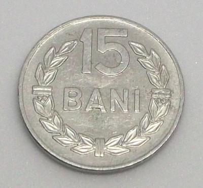 G5. ROMANIA 15 BANI 1975, 1 g, Al, 19.5 mm ** foto