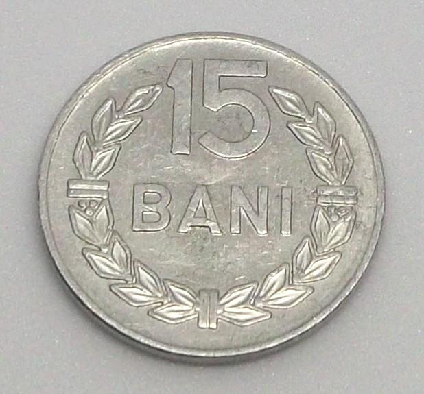 G5. ROMANIA 15 BANI 1975, 1 g, Al, 19.5 mm **