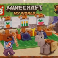 NOU/SIGILAT - Set de 82 piese tip lego Minecraft - My World LB 514-3