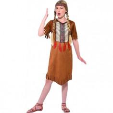 Costum Indian Nativ American fetite 4-6 ani