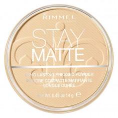 Pudra matifianta rezistenta la transfer RIMMEL Stay Matte 011 Creamy Natural 14g
