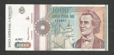 ROMANIA  1000  1.000  LEI  1991  [09]  a  UNC  , necirculata , cu punct foto