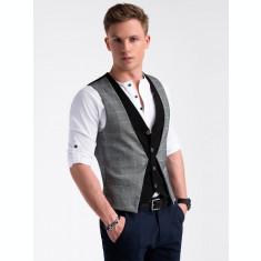 Vesta premium, eleganta, barbati - V49-negru