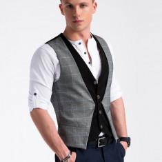 Vesta premium eleganta barbati V49 negru