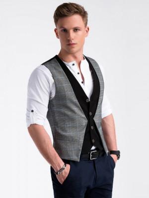 Vesta premium, eleganta, barbati - V49-negru foto