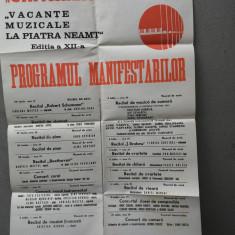 bnk rev Afis concert Vacante muzicale la Piatra Neamt ed XII - 1983