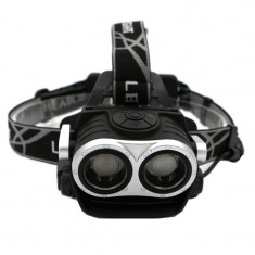 Lanterna frontala, 2 x LED, functie semnalizare