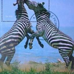 Sao Tome 1992 - zebre, colita stampilata