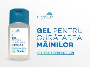 Gel Dezinfectant Antibacterian Transivtal cu 70% Alcool 60ml