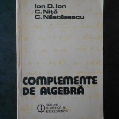 ION D. ION - COMPLEMENTE DE ALGEBRA