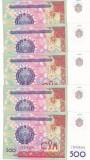 Bancnota Uzbekistan 500 Sum 1999 - P81 UNC ( pret pt. 5 bancnote consecutive )