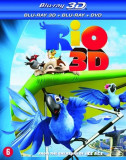 RIO pachet 3 discuri BR 3D, Blu Ray si DVD colectionari, BLU RAY 3D, Engleza, FOX