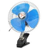 Ventilator EVO auto 20cm,12V,Mufa inclusa,Rotativ + Clema de prindere, Oem