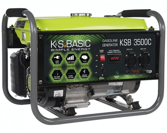 Generator curent 3.0 kW Könner & Söhnen KSB 3500C, benzina