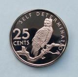 GUYANA  -  25 Cents 1976  -  Harpy  -  PROOF