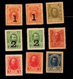 Rusia lot 9 bancnote / timbru 1915 / 1917