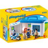 Cumpara ieftin Set mobil de joaca Playmobil, 1.2.3 Statie De Politie
