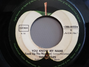 Beatles – Let It Be /You Know My Name (1968/Apple/RFG) -VINIL/7 Single/VG+