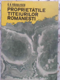 PROPRIETATILE TITEIURILOR ROMANESTI-G.A. RADULESCU