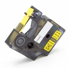 Schrumpfschlauch-kassette ersetzt dymo 18056 12mm, schwarz auf gelb, ,