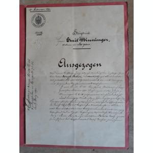 ACTE NOTARIALE VECHI - 1891 - MARCA FIXA - TIMBRU SEC - FILIGRAN - CALIGRAFIE