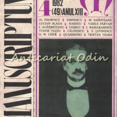 Manuscriptum. Revista Trimestriala - Nr.: 4/1982 * (49) Anul XIII