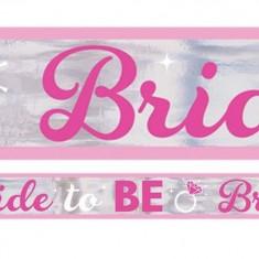 Banner petrecerea burlacitelor, Bride to be - 760 cm, Amscan 9900535