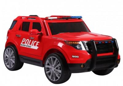 Masinuta electrica SUV de Politie cu sirena, girofar si megafon, rosu foto
