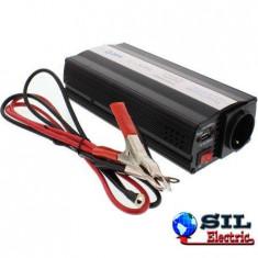 Invertor de tensiune 12V -> 220V, USB, 1000W, Well