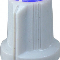 Buton pentru potentiometru, 15mm, plastic, gri-albastru, 15x16mm - 127044