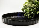 Vas Ceramic Termorezistent Rotund Negru ∅ 28 Cesiro