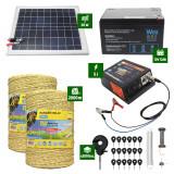 Pachet Gard electric 5J putere plus 2000m de fir si Panou Solar