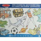 Caiet Jumbo cu Desene pentru Colorat Albastru, Melissa & Doug