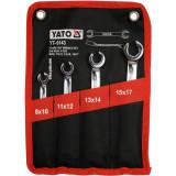 Yato - YT-0143 - Set chei inelare duble decupate, 8-17 mm, 4 bucati