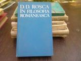 D.D. Rosca in filosofia romaneasca - Tudor Catineanu