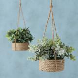 Planta artificiala in ghiveci suspendabil Bolivian Verde / Natural, Modele Asortate, H45 cm