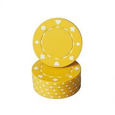 Jeton poker cu SimboluriCărţiPoker , galben 11,5g