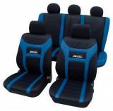 Huse auto universale Eco-Class Super-Speed set complet 11 piese - Albastru