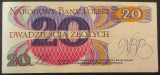 Bancnota 20 ZLOTI - POLONIA anul 1982  *cod 48 - A.UNC++