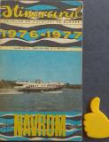 Itinerarul navelor de calatori pe Dunare 1976-1977 Navrom