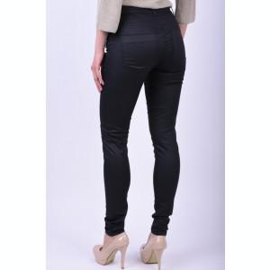 Pantaloni Noisy May Fame Nw Copated Zip Negru