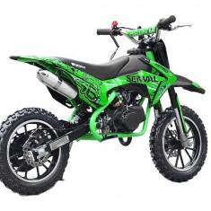 Mini motocicleta electrica pentru copii NITRO Eco Serval 500W 10/10 #Verde