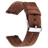 Curea material textil, compatibila cu Huawei Watch GT, Telescoape QR, 22mm, Pecan Brown